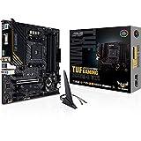 ASUS TUF Gaming B550M-E WiFi - Placa Base de Gaming Micro-ATX AMD B550 Ryzen AM4, PCIe 4.0, M.2, Wi-Fi 6, SATA 6 Gbps, USB 3.2 Gen. 2 Tipo A y USB 3.2 Gen. 1 Tipo C, BIOS Flashback, Aura Sync RGB