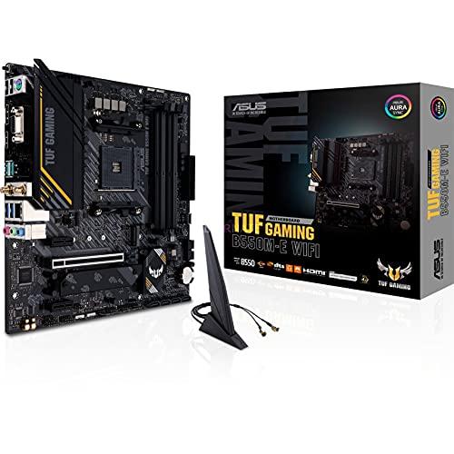 Asus TUF GAMING B550M-E WIFI, Scheda madre gaming AMD B550 (Ryzen AM4) micro ATX, PCIe 4.0, 2x M.2, Intel Wi-Fi 6, DP, HDMI, D-Sub, USB 3.2 Gen 1 Type-C, USB 3.2 Gen 2, BIOS FlashBack, Aura Sync RGB