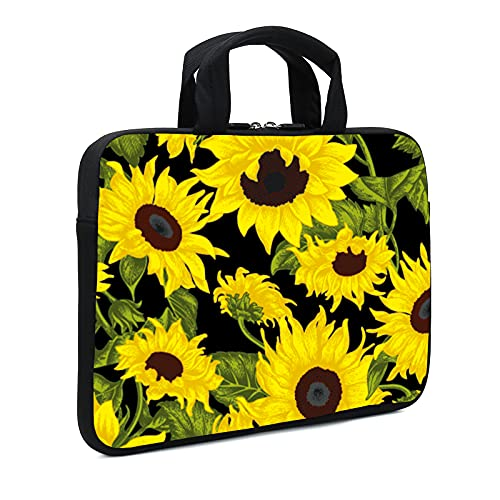 AMARY Laptop Sleeve 11.6' 12' 12.1' 12.5 inch Chromebook case Neoprene chromebook Bags Chromebook Sleeve Laptop Case Fit Apple MacBook Air HP DELL Lenovo Asus Samsung (Sunflower)