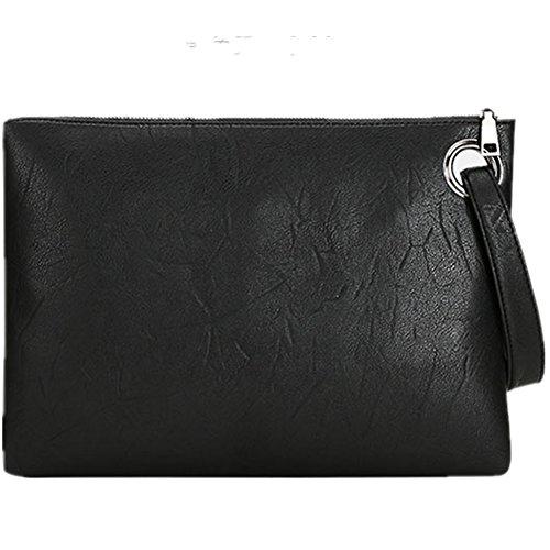 J-BgPink Evening Bags Purse Envelop Clutch Chain Shoulder Womens Wristlet Handbag Foldover Pouch (black), X-Large