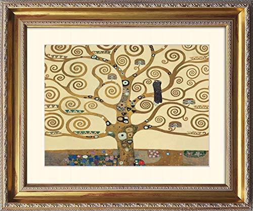 artissimo, Grand-Masters, Kunstdruck in Barock-Rahmen gerahmt, 63x53cm, AG4670, Gustav Klimt: The Tree of Life, Bild mit Rahmen und Passepartout, Wandbild, Poster, Wanddekoration