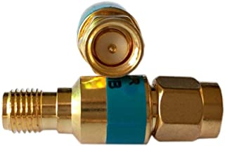 2pieces 2W SMA-J.K Connector Type Coaxial RF Attenuator, DC to 6.0GHz,50 Ohm,1db,2db,3db,5db,6db,10db,15db,20db,30db (10dB)
