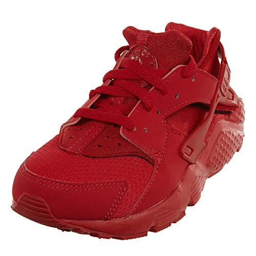 Nike Huarache Little Kids Running Shoes (PS) (3 Little Kid, University Red/University Red)