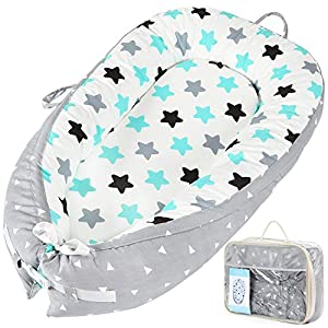 Baby Lounger Baby Nest Sharing Co Sleeping Bassinet – Portable Infant Crib for Bedroom/Travel, Removable & Machine Wash & Breathable