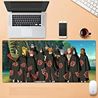 マウスパッド おおきめ ゲーミングマウスマット、 ナルトマウスパッドゲーミングラージXXLナルトアニメマウスパッドゲーマービッグマウスマットコンピュータデスクマットXXLキーボードパッド-A_800x300x3mm