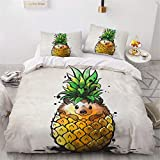 KOOYR 3D Cartoon Print Small Animal Plumón Cover, Comfortable y Soft Poliéster Fiber Cover for Children and Adolescentes, Individual/Doble Bed Quilt Cover con Funda Nórdica (B,200 x 200 cm)