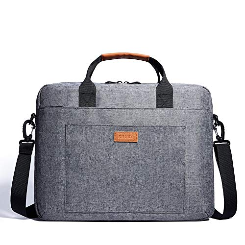KALIDI Laptop Bag 15.6 Inch Laptop Shoulder Messenger Bag Case Sleeve Waterproof Shockproof for 15'~15.6' Laptop,Grey