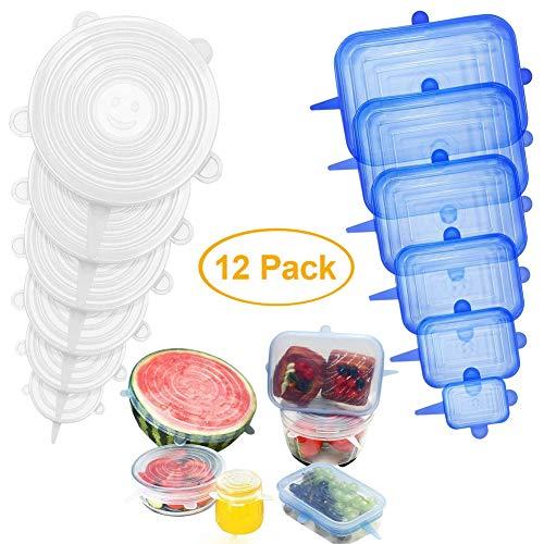 Silikondeckel Dehnbar,Silikondeckel Wiederverwendbar BPA Free,Stretch Deckel,Silikon-frischhalte-deckel,Abdeckung für Lebensmittel,Silikon Abdeckung für Schüsseln Dosen Töpfe