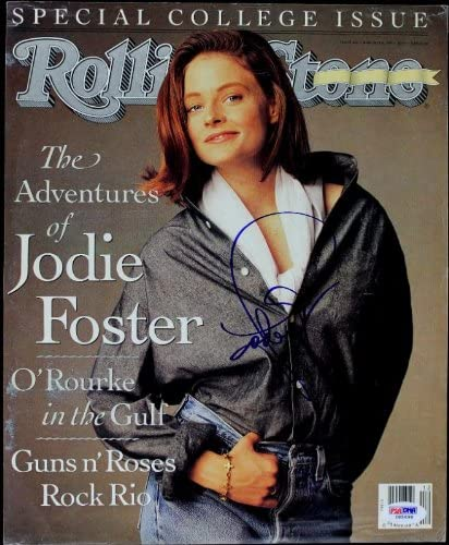 Animer Limited price sale and price revision Jodie Foster Authentic Signed Rolling D Stone Magazine PSA Cover
