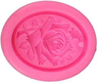 Molde para fondant de yeso rosa, decoración de silicona con agujeros para decoración de tartas