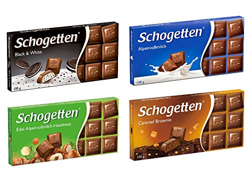 Schogetten German Chocolate Variety Pack (Bundle of 4)