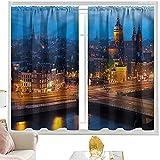 Cortinas & drapes City,Amsterdam Famous Travel W42 x L63 pulgadas cortinas opacas