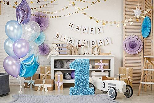 Fondo de fotografía de decoración de Primer cumpleaños de bebé recién Nacidos Fondo de Cabina de Fotos para Estudio fotográfico sesiones fotográficas A7 10x7ft / 3x2,2 m