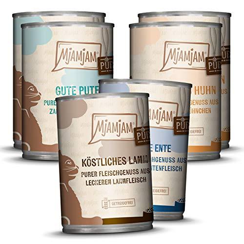 MjAMjAM - Premium Nassfutter für Katzen - Mixpaket 5 - Purer Fleischgenuss,...