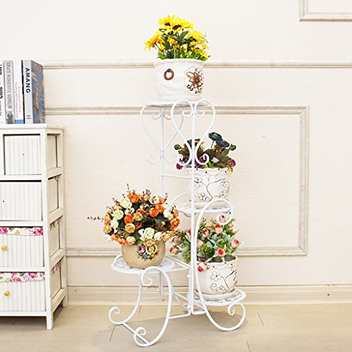 Iron Flower Frame Landing Flower Pot étagère multicouche à l'intérieur et à l'extérieur de style européen fleur Rack Salon balcon Scindapsus Flower Stand (taille: 40 cm * 25 cm * 80 cm)