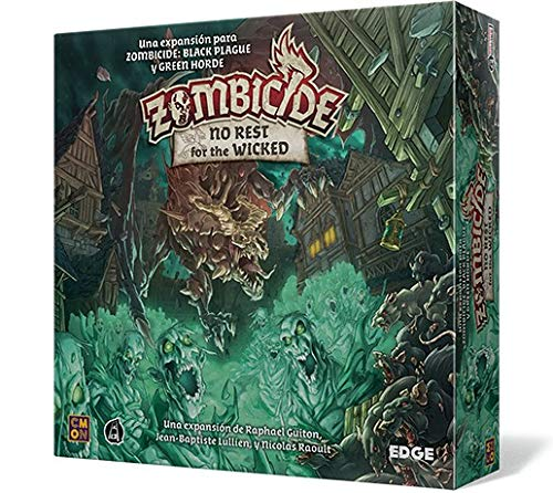 Edge Entertainment- Zombicide Black Plague: No Rest for The Wicked - Juego...
