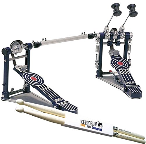 SONOR GDPR-3 Giant Step Drum Pedal Double-Bass Fussmaschine + keepdrum Drumsticks 1 Paar