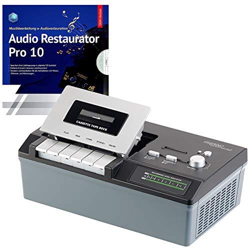 auvisio Kassettenplayer: USB-Kassetten-Player UCR-2200 zum Abspielen & Digitalisieren (MC Digitalisierer)