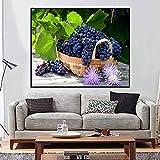Handgemalte diy malerei obst tier katze blume by zahlen kit abbildung leinwand bild acryl färbung wohnzimmer wohnkultur (kein rahmen) 60x80 cm