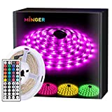 Save 33% on MINGER LED Strip Light Waterproof 16.4ft RGB