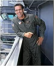 JAG Chuck Carrington as Jason Tiner Leaning on Battleship Laughing 8 X 10 Inch Photo