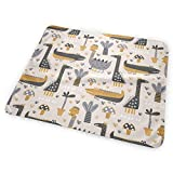 Kotdeqay Cute Dino in Exotic Forest Pattern Baby Girls Changing Pad Cover, Leak-Proof Breathable Changing Table & Mat for Babies and Toddlers