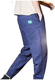 Mens Tapered Workwear Ranger Pant Long Pants Oversized Training Pant Navy Blue Medium