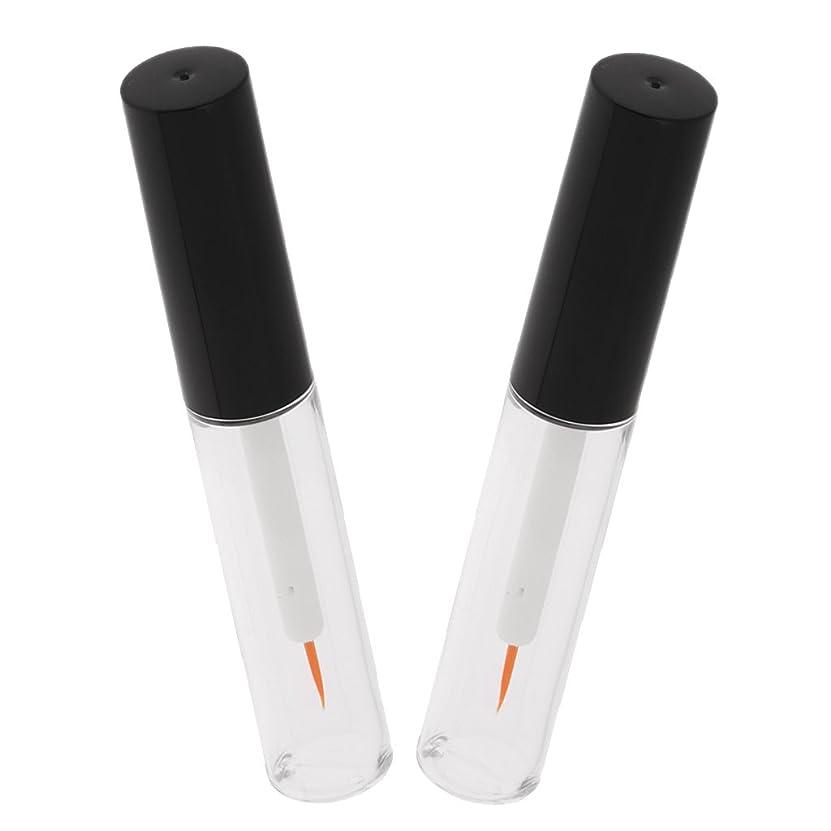 CUTICATE 2本 メイクアップボトル 4ml アイライナーチューブ マスカラ 液体ボトル クリア 詰替え容器