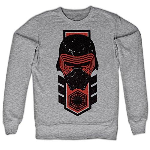 Kylo Ren Distressed Sweatshirt (H.Gris), Large