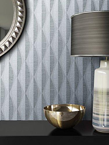 Tapete Grau Vlies in Natur-Optik | schöne, moderne, edle Tapete im Grafik-Design | für Wohnzimmer, Schlafzimmer oder Küche inklusive Newroom Tapezier-Profibroschüre mit Tipps für perfekte Wände
