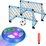 Selieve Kids Toys for 3-12 Year Old Boys Girls, Rechargeable Hover Soccer Ball Set with 2 Goals, Multi Color LED Light and Inflatable Ball, Birthday Gift for 4-8 Year Old Boys, Indoor Outdoor Games