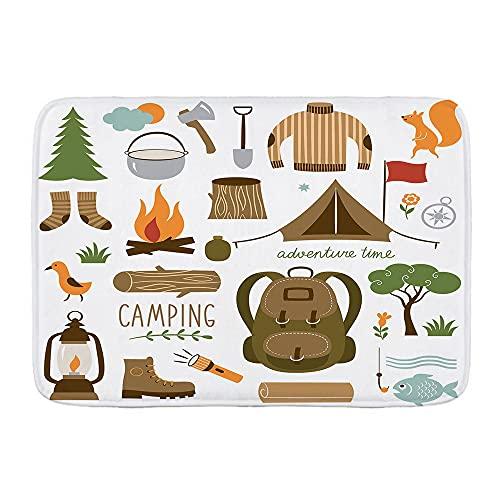 KASMILN Alfombra de baño Alfombra,Equipo de Campamento Saco de Dormir Botas Fogata...