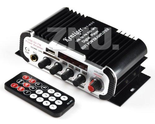 Buy ZNU FM Audio +MIC + MP3 Speaker HiFi Mini Amplifier for ipod Motorcycle car Mini Amp