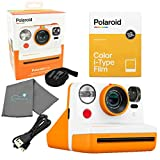 Polaroid Now I-Type Instant Film Camera - Orange Bundle with a Color i-Type Film Pack (8 Instant Photos) and a...