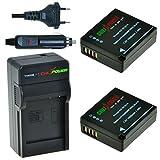 Kit ChiliPower DMW-BLG10, DMW-BLE9 : 2 Batteries + Chargeur pour Panasonic Lumix