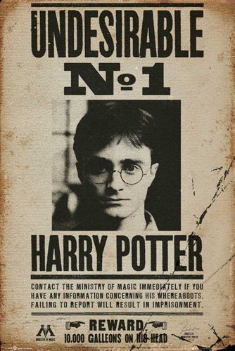 Empireposter – Harry Potter – Undesirable No 1 – Taille (cm) : 61 x 91,5 cm – Poster -