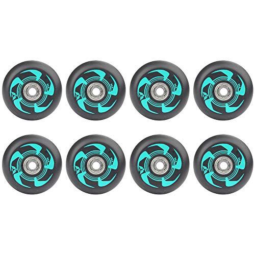 8 Stück Inline Skate Wheels 72Mm 76Mm 80Mm Inline Skates Ersatzrad Mit ABEC-9 Lagern,Grün,72mm