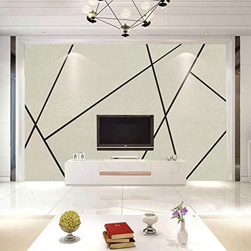 TV muurachtergrond TV personaliseerbaar behang woonkamer vliesbehang 3D ruit abstract papier modern 3D fotobehang strand 300cm×210cm
