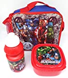 TDL Marvel Avengers Ensemble-Cadeau Sac Isotherme + Bidon + Boîte À Déjeuner - Licence Officielle - Lunch Bag + Sports Bottle + Sandwich Box - Gift Bundle