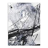 LiMengQi2 Impresión Abstracta Moderna Imagen de la Pared Pintura sin Marco Vintage Retro...