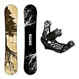 Camp Seven New Roots CRC Snowboard +APX Bindings Men's Snowboard Packages (153 cm)