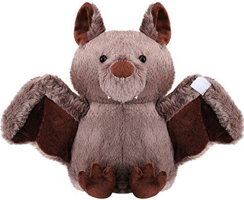 Plush Bat Bashful Stuffed Animal Bat Cute Plush Animal Halloween Furry Doll 11 Inches Brown product image