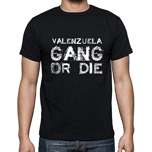 Valenzuela Family Gang, Camiseta para Las Hombres, Manga Corta, Cuello Redondo, Negro