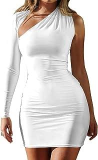 white ruched mini dress