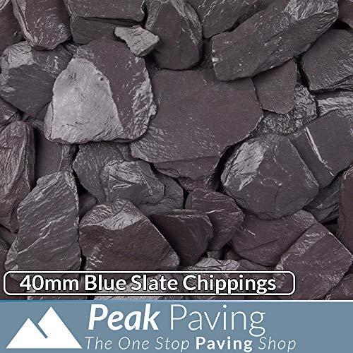 Blue Slate Decorative Aggregates Slate Pebble Chippings Garden Gravel 40mm 20 Kg
