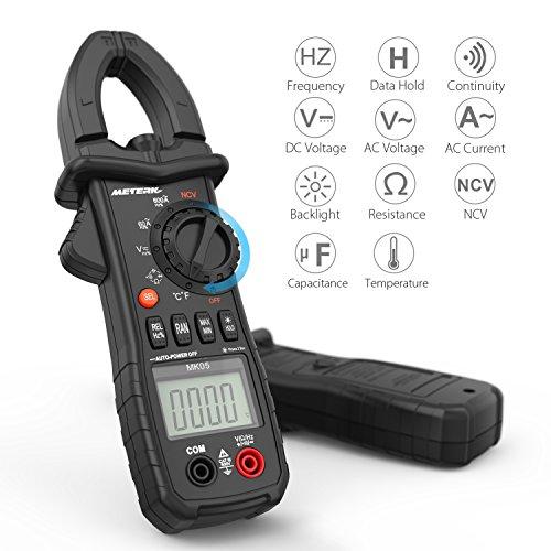 Pinza digital Multímetro, Meterk Avanzado Pinza Multimeter Detección de Voltaje sin...