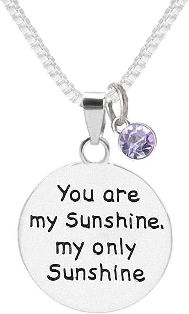 TISDA Birthstone Crystals Necklace,