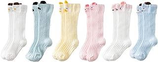 Newborn Cute Animal Baby Socks,Unisex Baby Infant Girl Boy Toddler Cartoon Lace Stocking Knit Knee High Cotton Socks