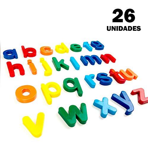 Starplast, 2 stuks van 26 plastic letters met magneet, 2 cm, verschillende kleuren, voor Blackboards, spellen, presentaties etc, kleine letters Lowercase