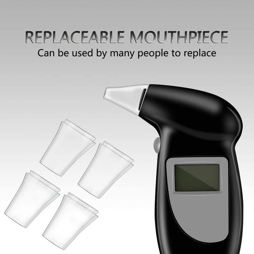 Taglia : 110 * 70 * 25mm FMN-TEST Alcohol Tester Etilometro Schermo Analyzer Detector Test di Portachiavi breathalizer Alco DeviceLCD